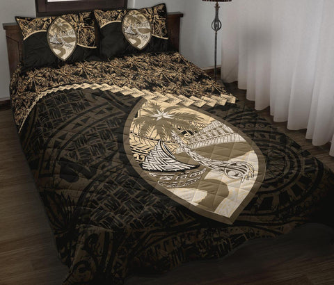 Guam Polynesian Quilt Bed Set Golden Coconut A02
