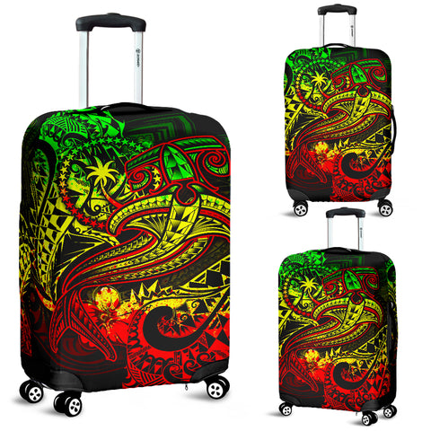 Chuuk Luggage Covers - Reggae Shark Polynesian Tattoo