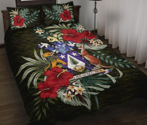 Norfolk Island Polynesian Quilt Bed Set - Special Hibiscus
