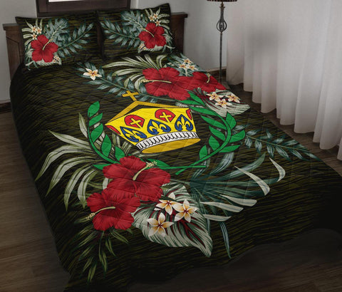 Image of Tonga Polynesian Quilt Bed Set - Special Hibiscus