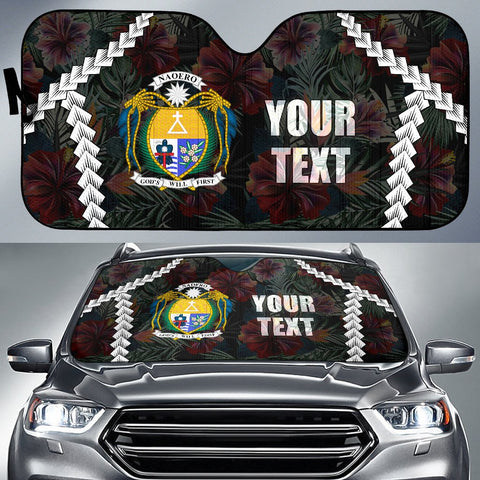 Nauru Custom Personalised Auto Sun Shades - Chain Polynesian