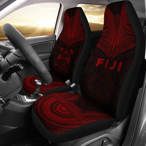 Fiji Polynesian Chief Car Seat Cover - Red Version