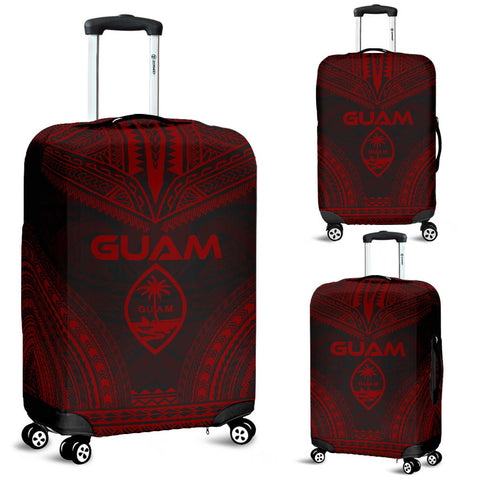 Guam Polynesian Chief Luggage Cover - Red Version