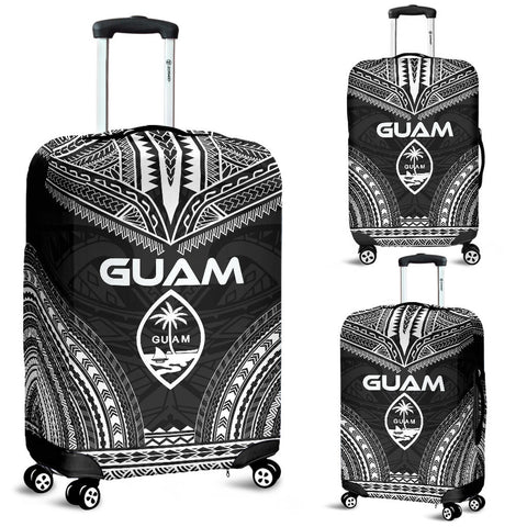 Guam Polynesian Chief Luggage Cover - Black Version