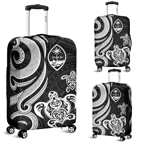 Guam Polynesian Luggage Covers - White Tentacle Turtle