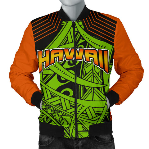 Polynesian Hawaii Men's Bomber Jacket - Tribal Wave