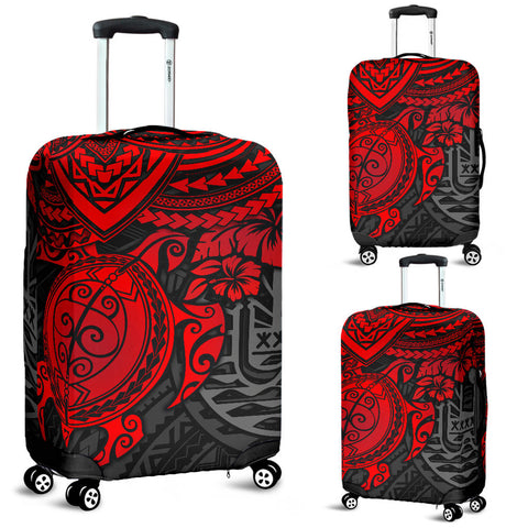 Image of Tahiti Polynesian Luggage Cover - Red Turtle