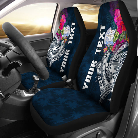 Marshall Island Custom Personalised Car Seat Covers - Summer Vibes