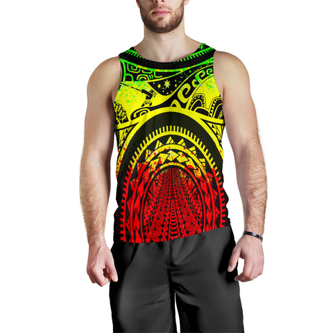 Polynesian Men's Tank Top, Maui Tattoo Polynesian Patterns (Reggae) - BN17