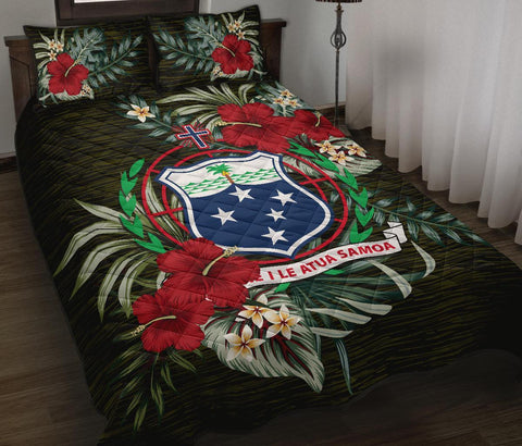 Samoa Polynesian Quilt Bed Set - Special Hibiscus