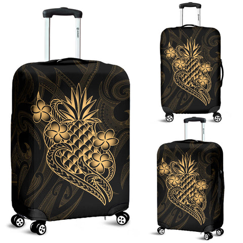 Polynesian Luggage Covers - Gold Pineapple