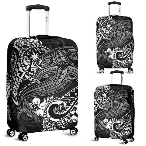Chuuk Luggage Covers - White Shark Polynesian Tattoo