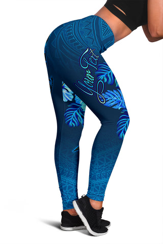 Polynesian Hawaii Custom Personalised Legging - King Kamehameha Koa Spear - BN11