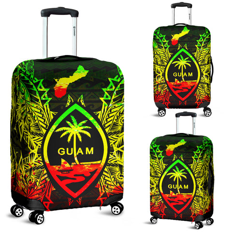 Guam Polynesian Luggage Covers Map Reggae