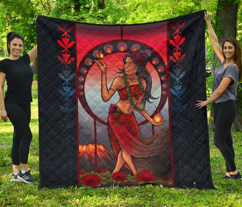 Polynesian Hawaii Quilt - Pele Hawaiian Girl