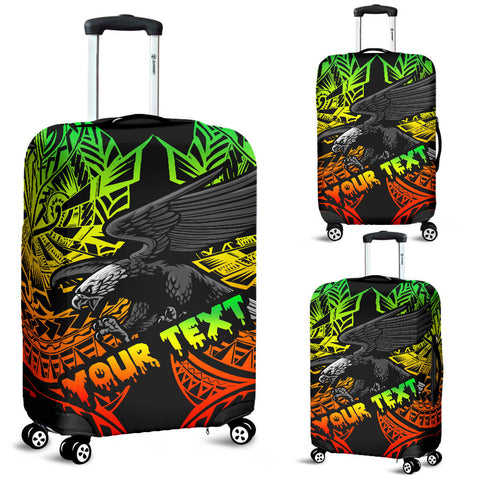 Samoa Polynesian Custom Personalised Luggage Covers - Eagle Tribal Pattern Reggae