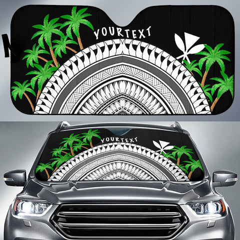 Hawaii Custom Personalised Auto Sun Shades - Ginger Lei Pattern - BN20