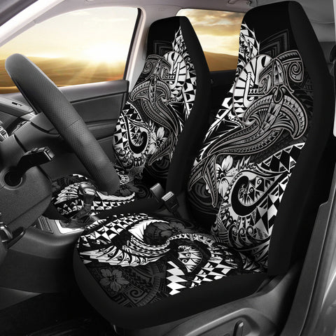 Tahiti Car Seat Covers - White Shark Polynesian Tattoo