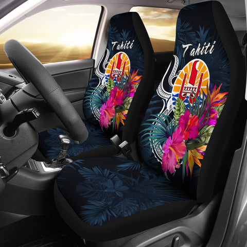 Tahiti Polynesian Car Seat Covers - Tropical Flower