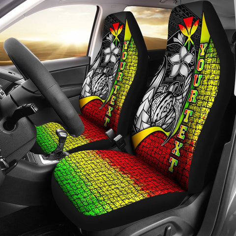 Polynesian Hawaii Custom Personalised Car Seat Covers Reggae - Turtle with Hook