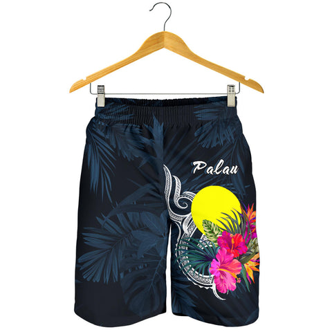 Image of Palau Polynesian Men's Shorts - Tropical Flower - BN12