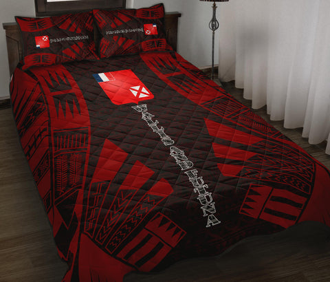 Wallis and Futuna Quilt Bed Set - Red Tattoo Style - BN0112