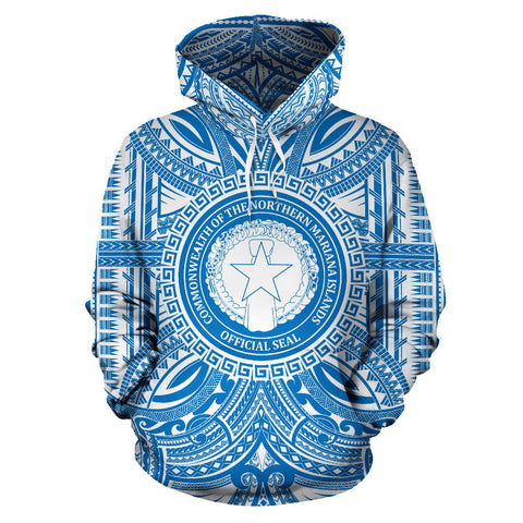 Northern Mariana Islands All Over Hoodie - Northern Mariana Islands Coat Of Arms Polynesian Flag Color