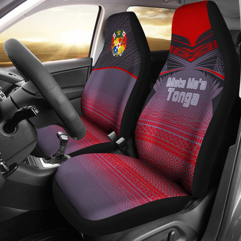 Tonga Polynesian Car Seat Covers - Grey Tattoo