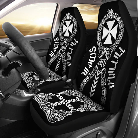 Image of Wallis And Futuna Car Seat Covers - Polynesian Tribal In car Left