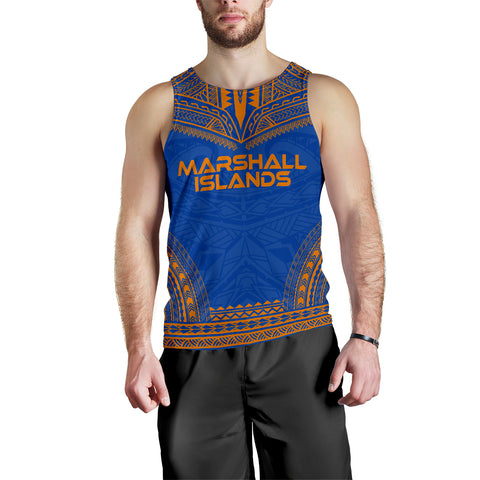 Marshall Islands Men's Tank Top - Polynesian Chief Flag Version