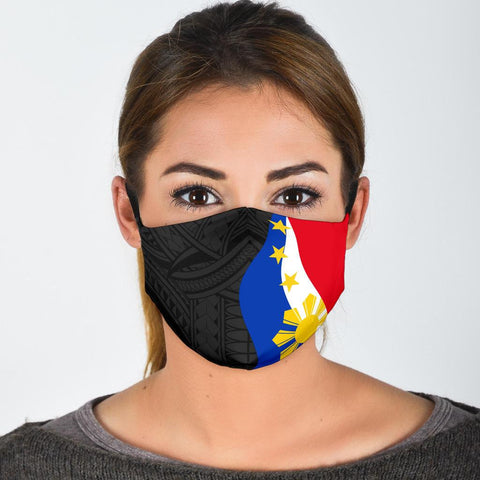 Philippines Face Mask 3 Pack - Flag and Polynesian Pattern - BN11