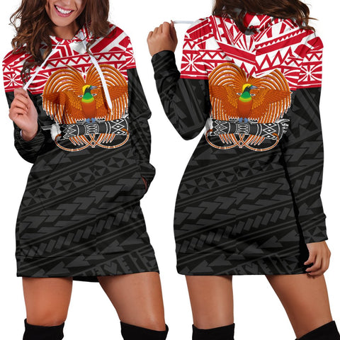Image of Papua New Guinea Hoodie Dress - Polynesian Style