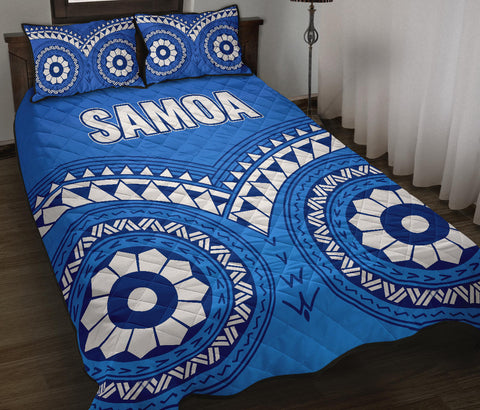 Image of Samoa Tribal Pattern Quilt Bed Set - BN12