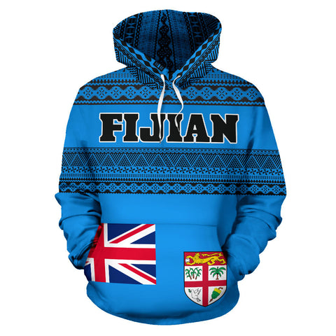 Image of Fijian All Over Hoodie - Tapa Pattern