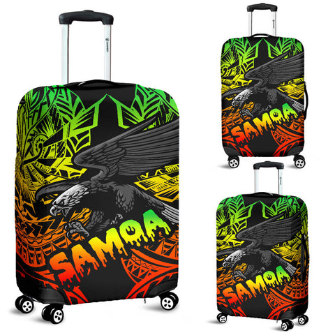 Samoa Polynesian Luggage Covers - Eagle Tribal Pattern Reggae
