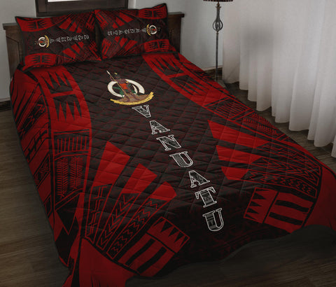 Vanuatu Quilt Bed Set - Red Tattoo Style - BN0112