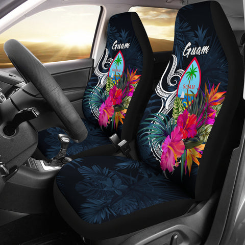 Image of Guam Polynesian Car Seat Covers - Tropical Flower