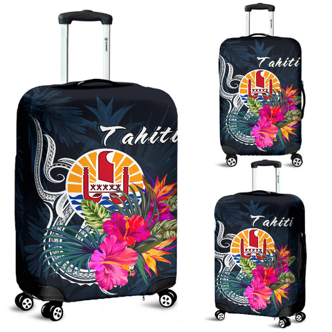 Image of Tahiti Polynesian Luggage Covers - Tropical Flower