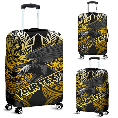 Image of Samoa Polynesian Custom Luggage Covers - Eagle Tribal Pattern Yellow Samoa Polynesian Custom Personalised Luggage Covers - Eagle Tribal Pattern Yellow