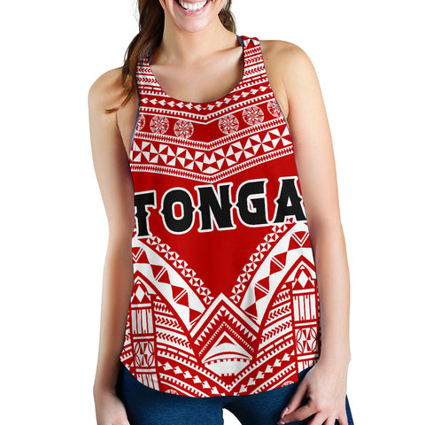 Image of Tonga Polynesian Tribal Pattern Women's Racerback Tank - BN12