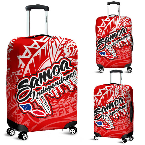 Samoa Polynesian Luggage Covers - Independence Day Red Version