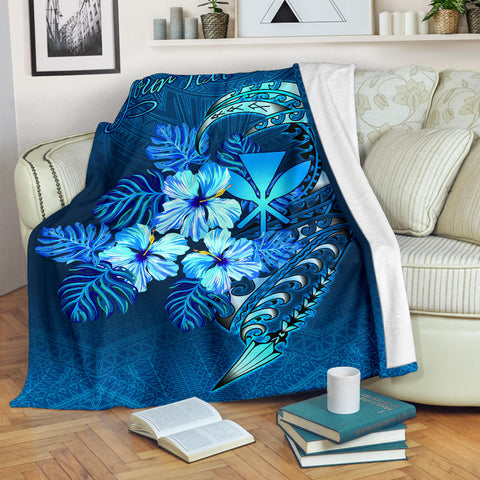 Polynesian Hawaii Custom Personalised Premium Blanket - King Kamehameha Koa Spear
