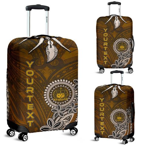 Samoa Custom Personalised Luggage Covers - Polynesian Boar Tusk - BN39