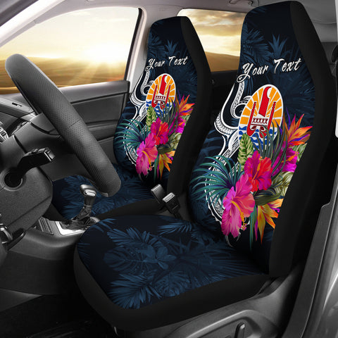 Image of Tahiti Polynesian Custom Personalised Car Seat Covers - Tropical Flower