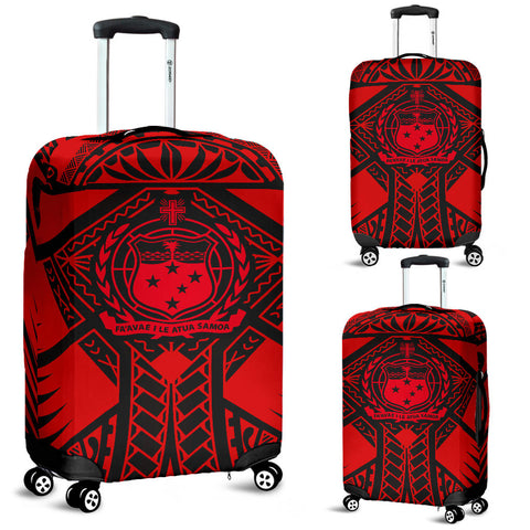 Image of Samoa Polynesian Luggage Covers - Samoa Red Seal with Polynesian Tattoo - BN18