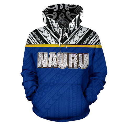Image of Nauru All Over Hoodie - Polynesian Hoodie Style front