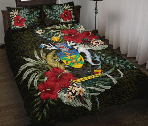 Solomon Islands Polynesian Quilt Bed Set - Special Hibiscus
