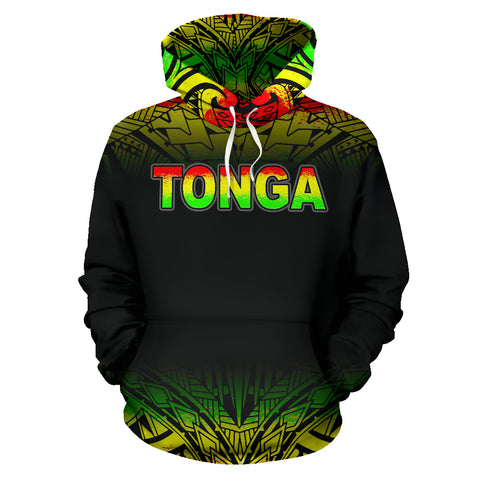 Image of Tonga Polynesian All Over Hoodie - Reggae Fog - BN12
