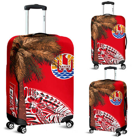 French Polynesia Luggage Covers - Palm Tree Polynesian Pattern - BN39