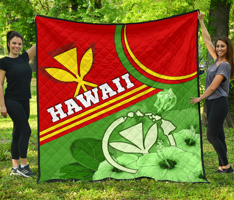 Hawaii Polynesian Premium Quilt - State of Hawaii